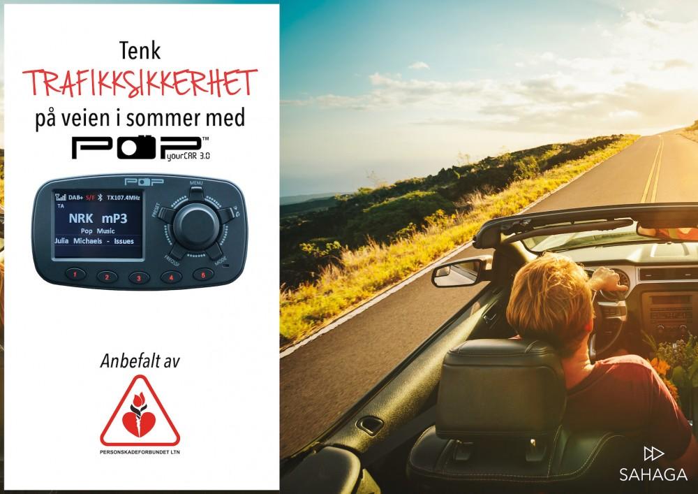 Modernistisk POPyourCAR 3.0, radio, premium dab adapter til bil, dab+ adapter KO-08