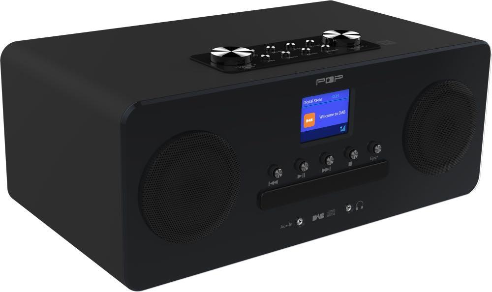 Tidssvarende Radio med cd spiller. POPcd, mikroanlegg med dab+, fm, bluetooth GY-95